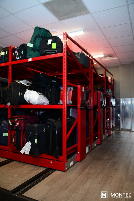 How can mobile storage for luggage rooms help weary travelers as much as it can hotel bellhops?