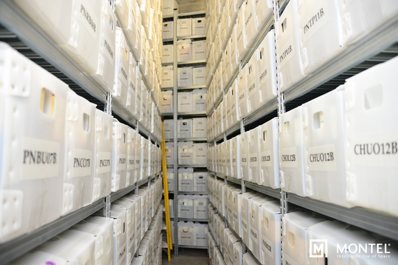 Mobile storage maximizes every inch for optimal spacial efficiency.